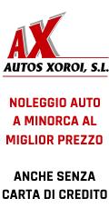 Noleggio auto a Minorca