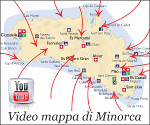 Video mappa di Minorca