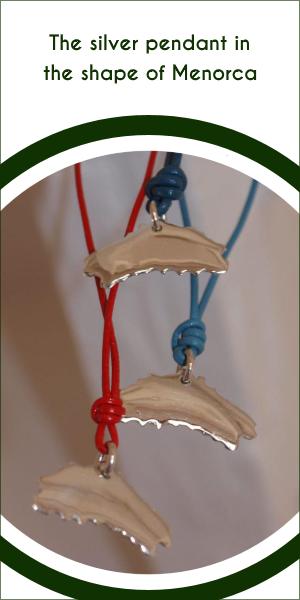The silver pendant in the shape of Menorca