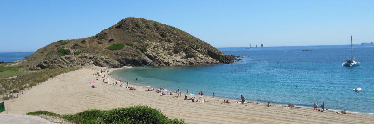 Sa Mesquida, la spiaggia a nord di Mahon Minorca