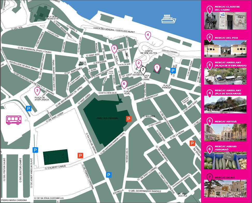 mappa mercati mahon e date