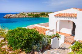 affitto villa sul mare minorca