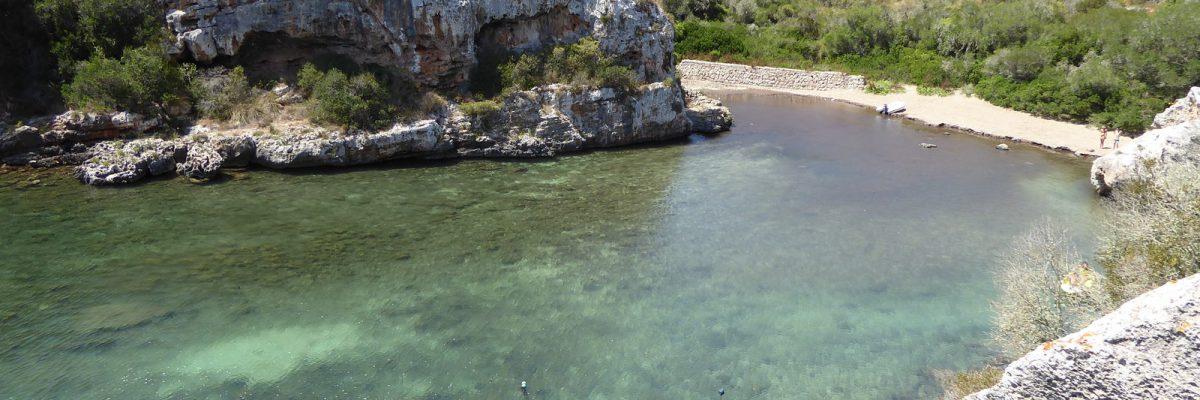 spiagge a sud di minorca