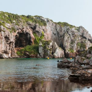Small,Beach,With,Turquoise,Water,Surrounded,By,Cliffs.,Cales,Coves,