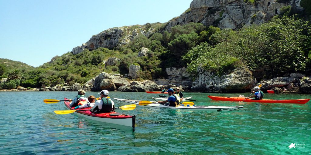 minorca in kayak