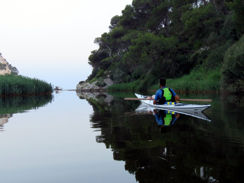 minorca in kayak