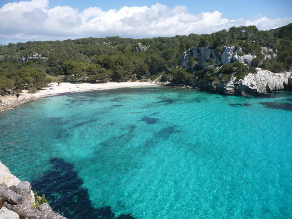 beaches in menorca