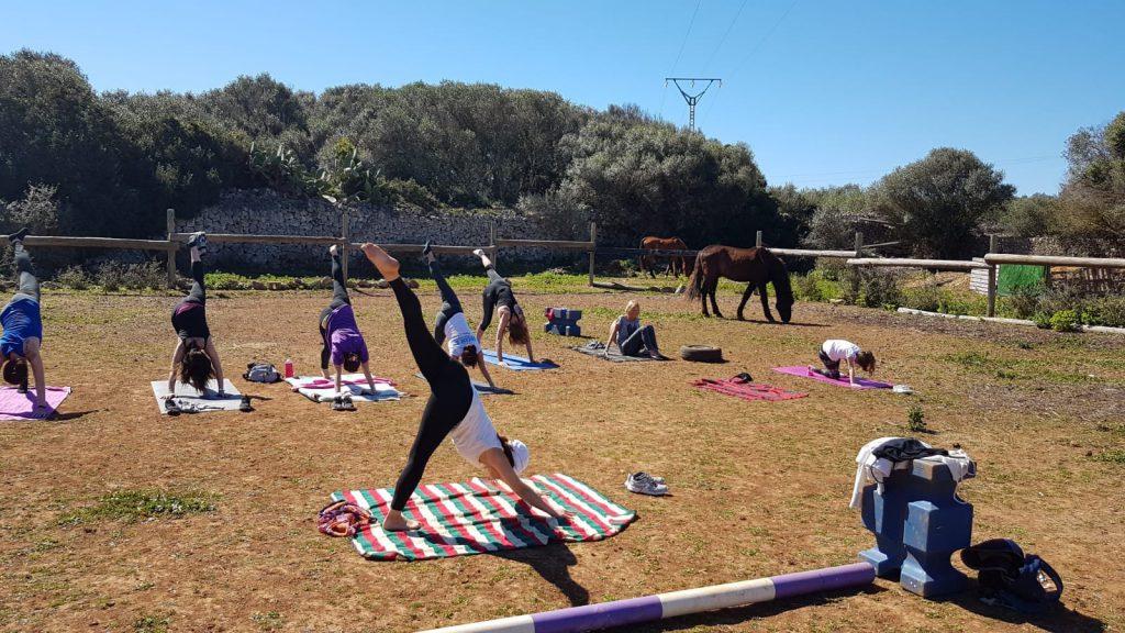 Daniela Iannaccone yoga tra i cavalli