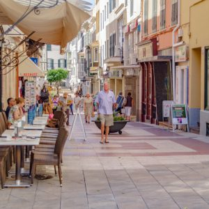 Mahon/spain.,21st,June,2012.,The,Streets,And,Lanes,Of,The