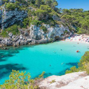 Cala,Macarelleta,Beach,In,Menorca,,Balearic,Islands,,Spain